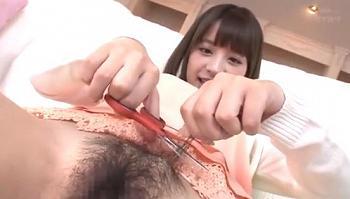 おま○この断髪式w綺麗ツルツルにしたらあとは思う存分エッチしちゃう激カワ美少女★桃乃木かな
