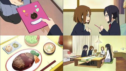 けいおん!!16話 シールと料理