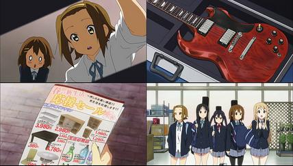 けいおん!!2話 ギター発掘と買い物