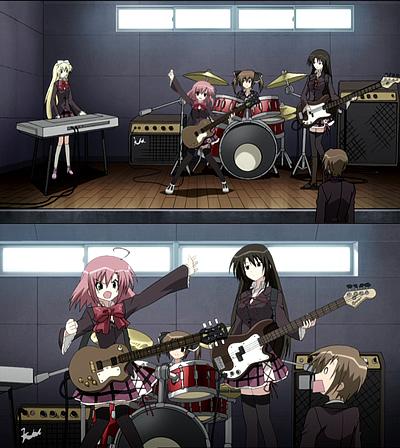 生徒会の一存4話 バンドといえば女の子4人