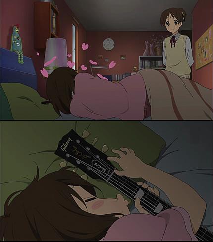 けいおん!!6話 ギー太と添い寝