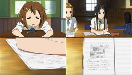 けいおん!!9話 試験前勉強