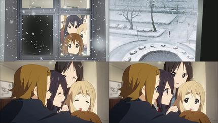 けいおん!!22話 雪とみんなの笑顔