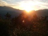阿里山からの日の出