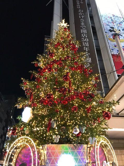 2017年東急本店前クリスマスツリー