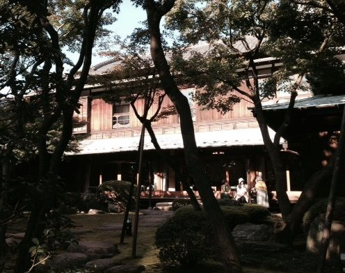 重要文化財 旧朝倉邸 庭園から