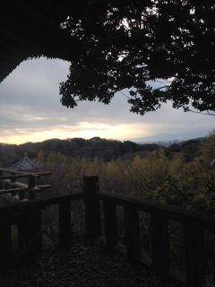 鎌倉山 檑亭のお庭から望む