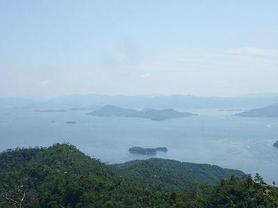 弥山から望む瀬戸内海