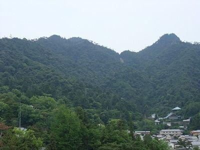 千畳閣から望む弥山