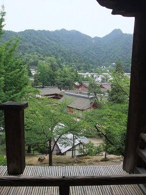 千畳閣から見る厳島神社