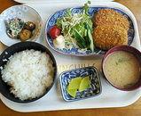 山菜コロッケ定食