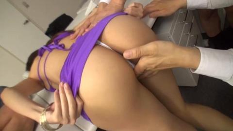 淫猥レオタード美女顔射-35