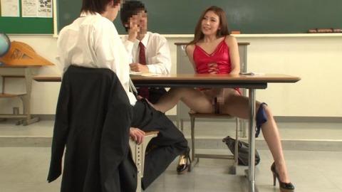ボディコンで教師を誘惑する変態妻-14
