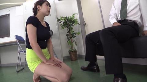 豊満デカ尻タイトスカートで挑発する美女 (13)