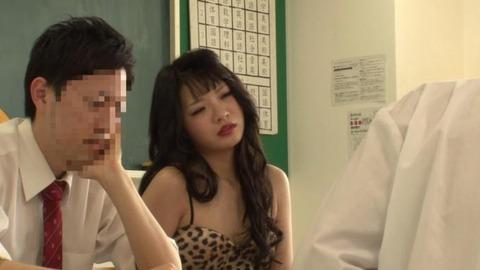 ボディコンで教師を誘惑する変態妻-23