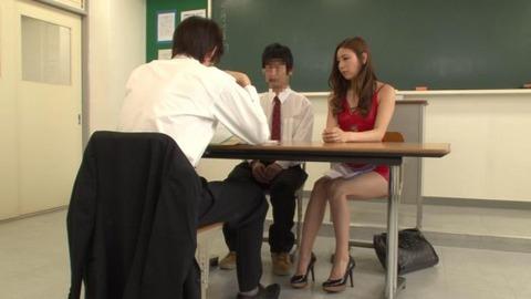 ボディコンで教師を誘惑する変態妻-11