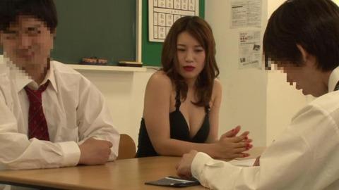 ボディコンで教師を誘惑する変態妻-39