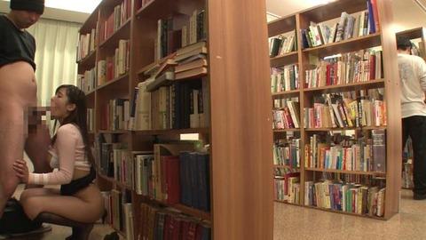 図書館で媚薬オナニー&SEX (45)