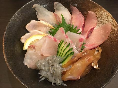 海鮮丼甲殻類抜き