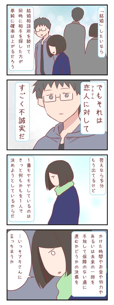 すでに答えが出ているはずの葛藤(婚活編)【ろぐ801】