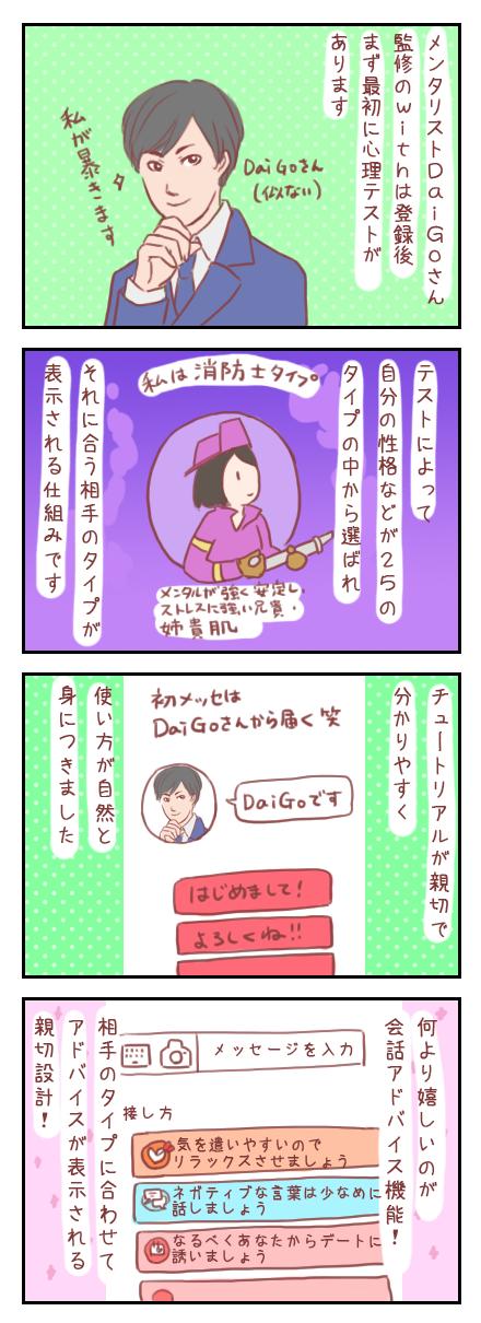 【ろぐ135】DaiGoさん監修のwithを使ってみたレポ