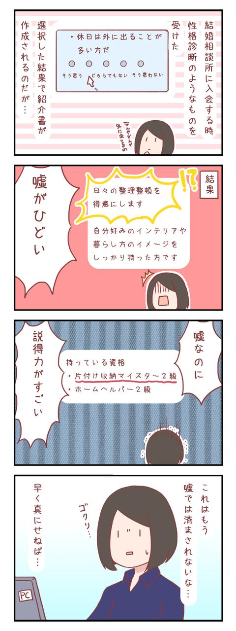 【ろぐ487】私の紹介書のひどい嘘(婚活編)