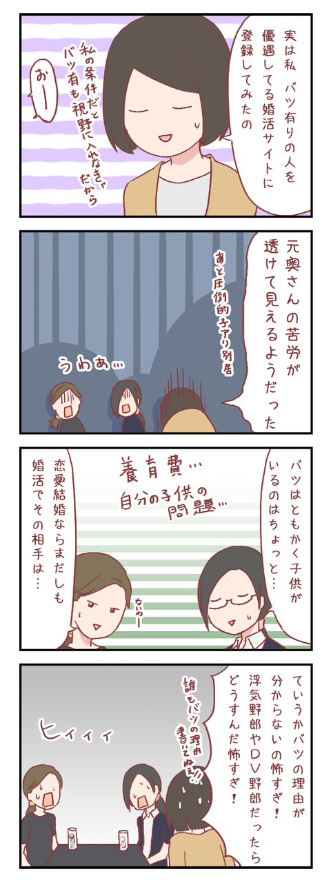 【ろぐ265】婚活女子会~バツ有り子有りは?(婚活編)