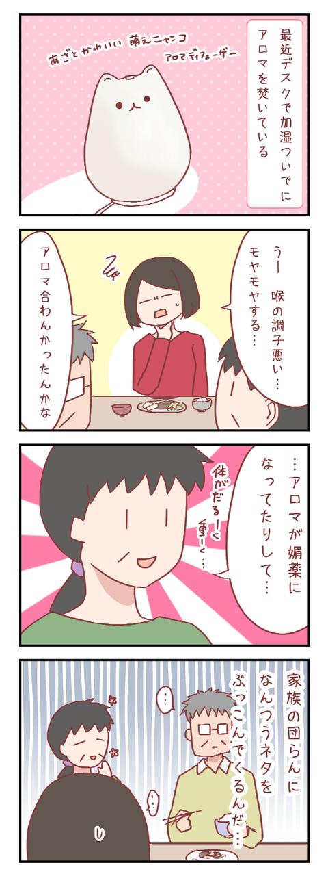 食事時を一気に気まずくさせた母の一言【ろぐ779】