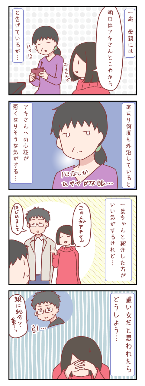 彼氏を親に紹介したいけれど(婚活編)【ろぐ766】