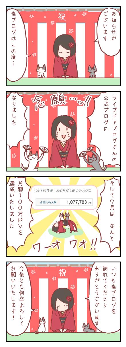 【ろぐ234】公式ブログになりました&月間100万PV達成!