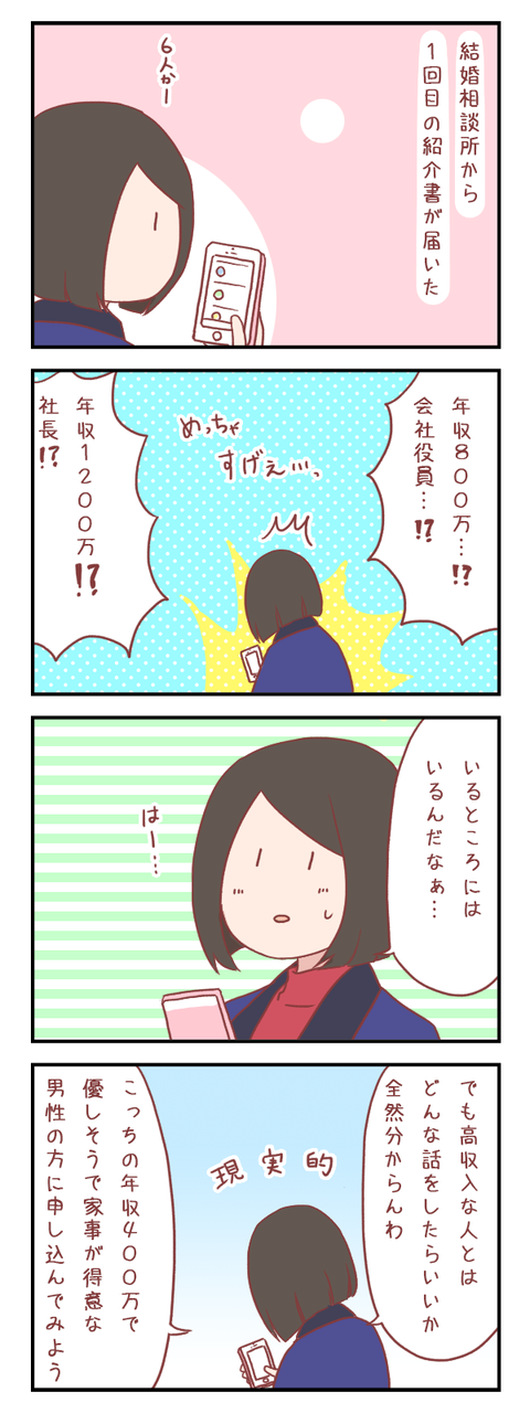 【ろぐ468】結婚相談所にて1回目の活動(婚活編)