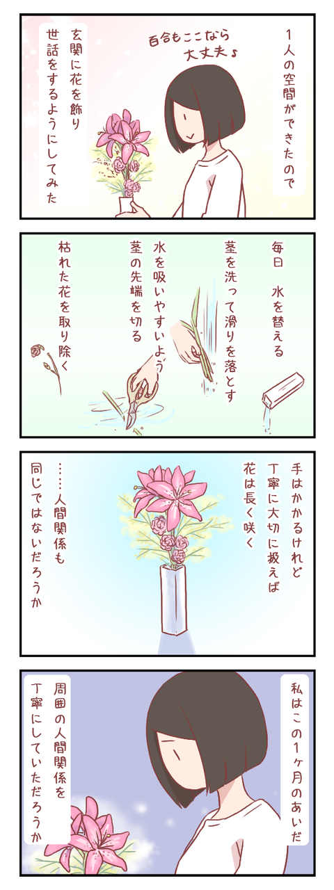 花と向き合い、自分と向き合う(婚活編)【ろぐ568】