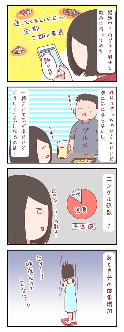 グルメ男子と飲みに行ってみた結果(婚活編)【ろぐ634】