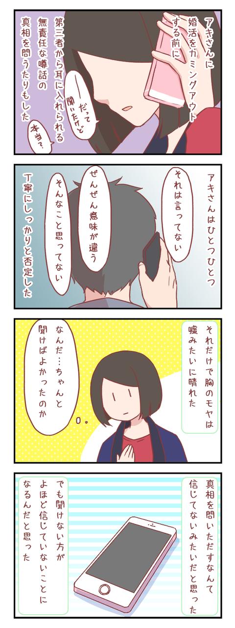 相手を信じるということ(婚活編)【ろぐ809】