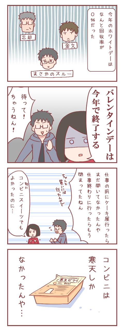 ホワイトデーに縁がない女(婚活編)【ろぐ886】