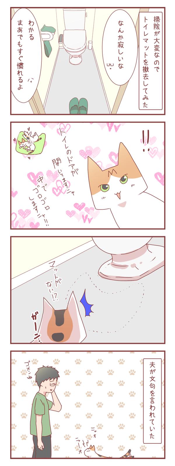 撤去したマットが猫さんのお気に入りだった結果