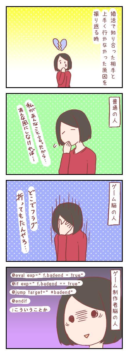 【ろぐ177】失敗を振り返る時の違い(婚活編)