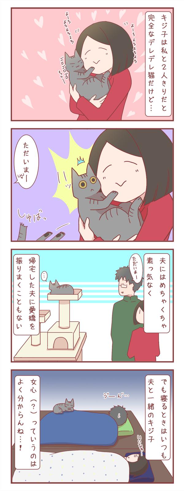 我が家の猫と夫の不思議な関係