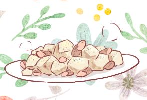 ウインナーとジャガイモのニンニク炒め