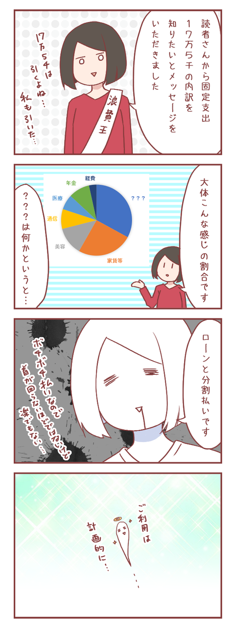 固定支出17万5千円の内訳…【ろぐ877】