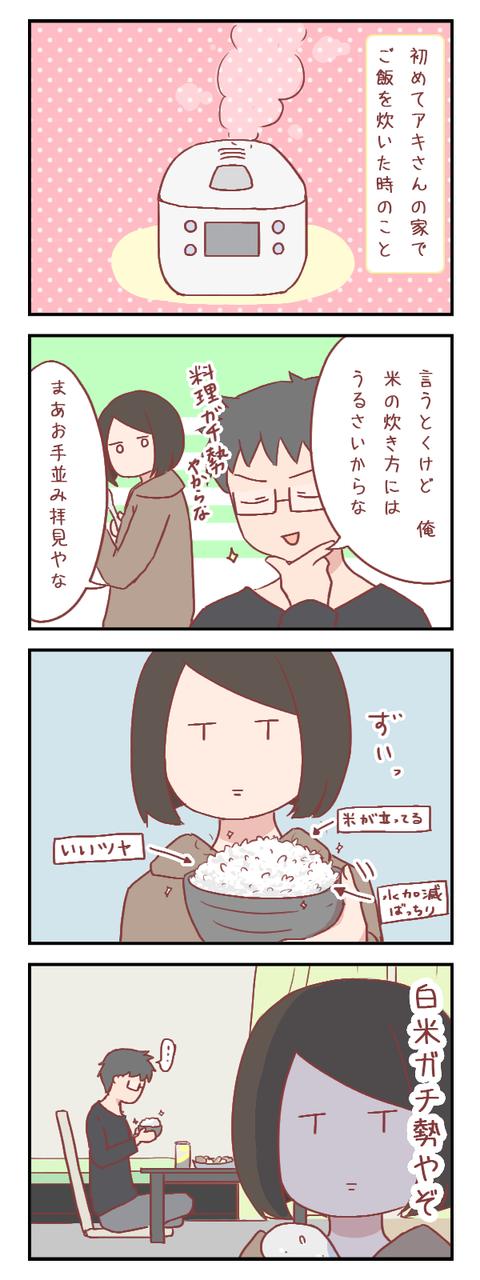 米の炊き方にうるさい男と米にうるさい女(婚活編)