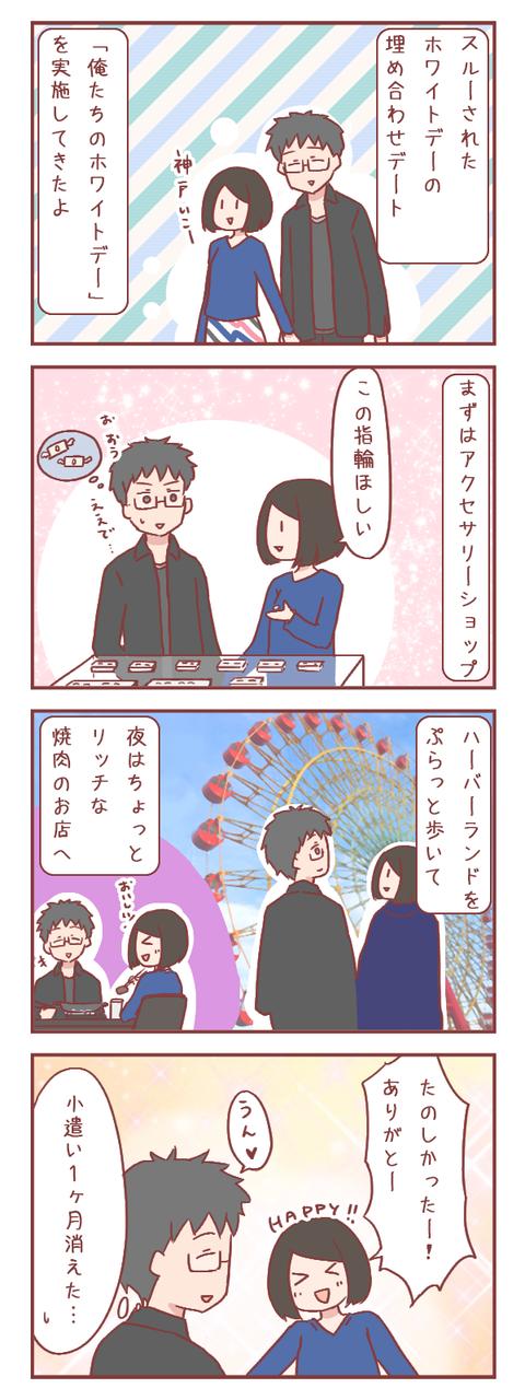 「俺たちのホワイトデー」を満喫してきたよ(婚活編)【ろぐ891】