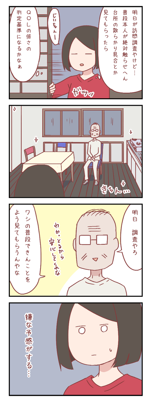 訪問調査を控えた祖父の態度に嫌な予感しかしない【ろぐ688】