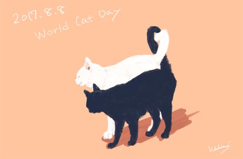 【ろぐ245】世界猫の日なので描いてみたよ
