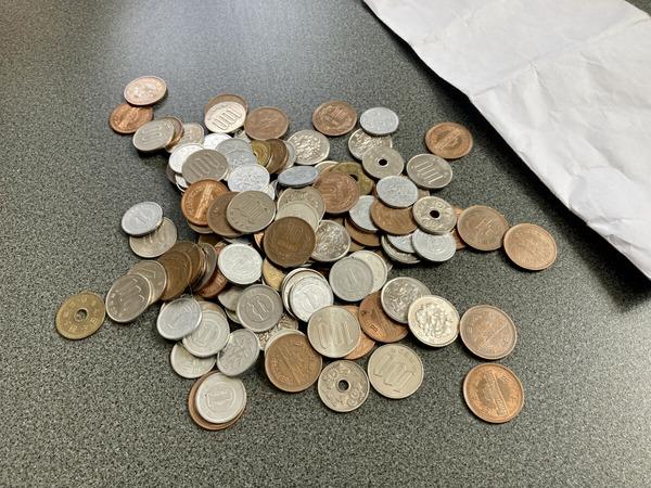 小銭貯金封筒の中身
