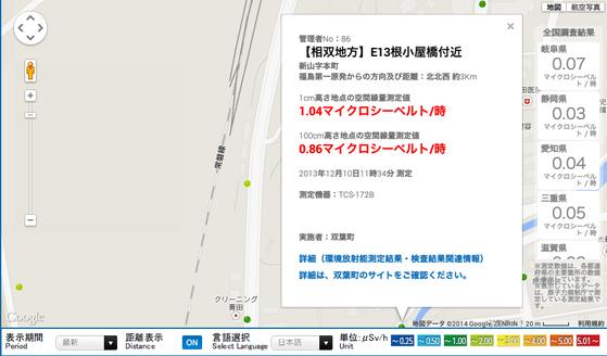 福島県放射能測定マップd