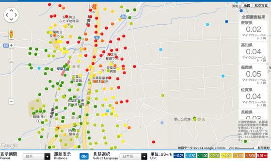 福島県放射能測定マップc