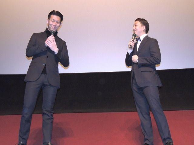 1月14日舞台挨拶(右:中村米吉/左:中村児太郎)2