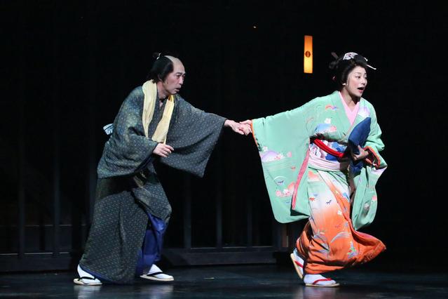 【近松】舞台写真/池田成志_小池栄子