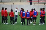 2月14日トレーニングマッチ後のトレーニング開始前